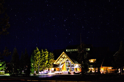 Yellowstone National Park Visitor's Education Center at Night