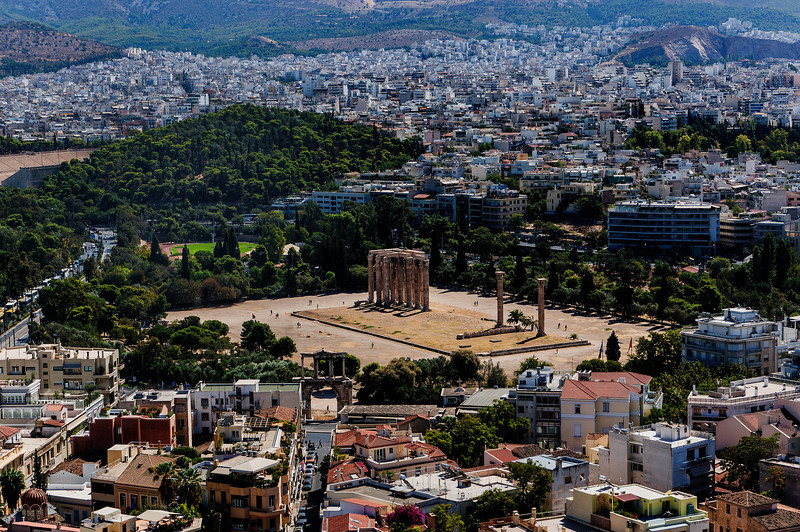 Temple of the Olympian Zeuss; Athens, Greece