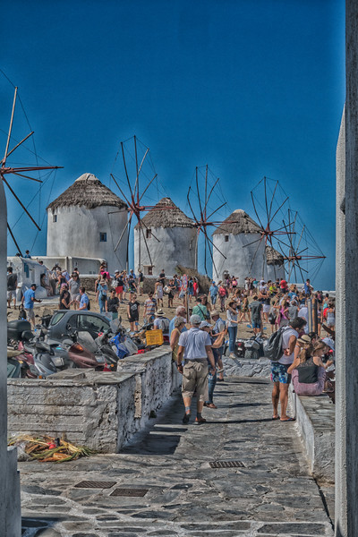 Windmills; Mykonos, Greece