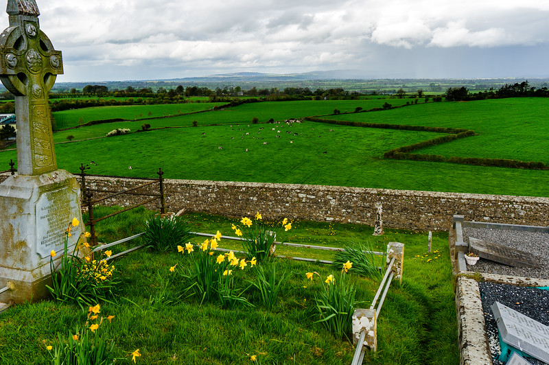 View of Irish Countryside from Rock of Cashel