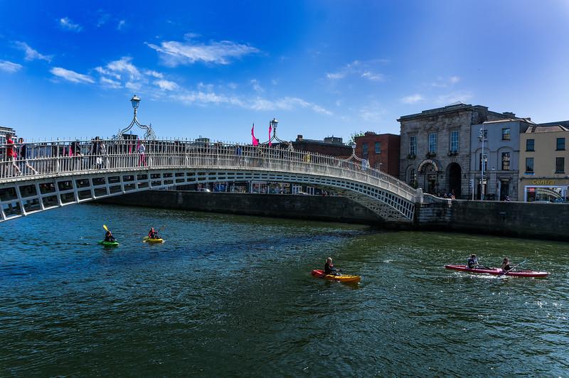 Ha'Penny Bridge; River Liffey