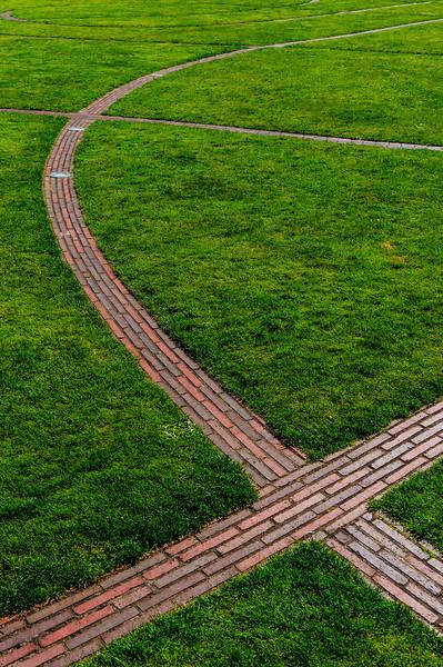 Brick lines at Dublin Castle
