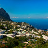 Village of Capri; View of the Marina Grande, Gulf of Naples