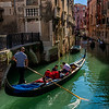 Gondolier and his Gondola; Venice