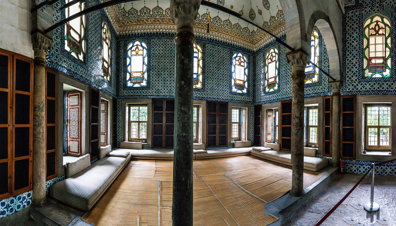 Topkapi Palace Panorama; Istanbul, Turkey