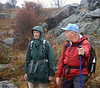 Rivanna Master Naturalist Dorothy Tompkins surveys the scenery at Grayson Highlands with New River Valley Master Naturalist Butch Kelly.