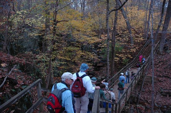 Crossing a bridge.<br /> Photo by Carol Hammer