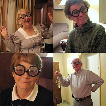 Oh, those fun-loving Rivanna MN, getting into the Halloween spirit! Or are they.....? (aka Ida Swenson, Dorothy Tompkins, Jackie Heath, Jim Lawson)<br /> (taken by T. Keffert)