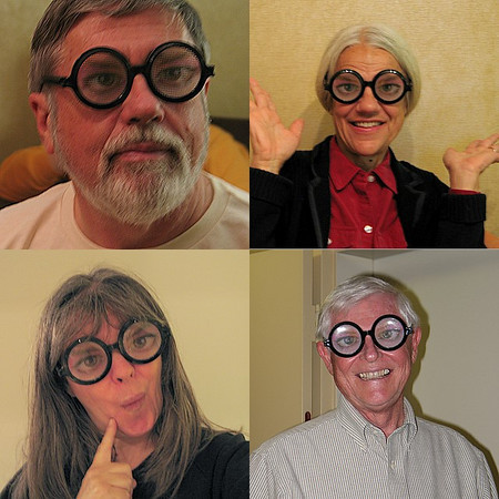 Oh, those fun-loving Rivanna MN, getting into the Halloween spirit! Or are they.....? (aka Bill Feeney, Mary Lee Epps, Terri Keffert, Jim Lawson)<br /> (taken by T. Keffert)