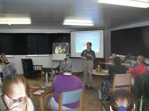 "Carol Heiser, along with Lou Verner, taught a class entitled ""Evaluating a Site for Habitat Improvement""."