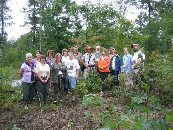 One group of Virginia Master Naturalists explored the Cumberland State Forest on Saturday afternoon, September 24, while learning about forest management from Ellen Powell and Tom Zaebst (Virginia Department of Forestry).