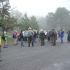 Misty start for a hike on the Appalachian Trail<br /> (Photo by Kathy Fell)
