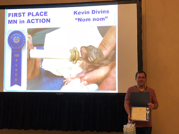 Kevin Divins with his award-winning photo.