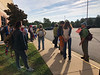 Waiting on the bus for the Northern Neck Ecology pre-conference trip.