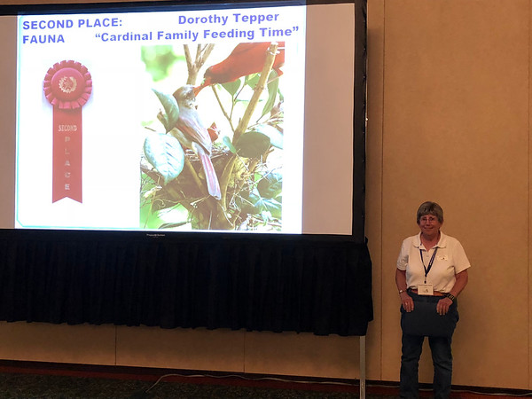 Dorothy Tepper with her award-winning photo.