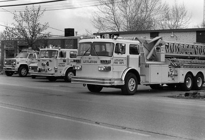 Engine 5, Rescue 2, Engine 4 and Tower 2 at Station 2