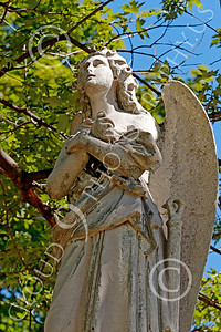 Sty-Angel 00005 A standing angel with arms crossed, one of God's celestial attendants, statue picture by Peter J Mancus