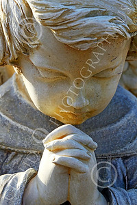 Sty-Angel 00001 A heart warming touching statutory depiction of a baby angel, one of God's celestial attendants, statue picture by Peter J Mancus