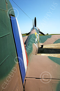 BRAFWWIIT 00009 This Spitfire is part of a tribute to British RAF Battle of Britain aircrew tribute in southern England, by Peter J Mancus