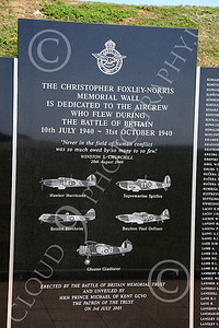 BRAFWWIIT 00011 This plague in southern England remembers and honors courageous WWII British RAF aircrew, by Peter J Mancus