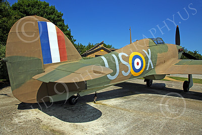 BRAFWWIIT 00012 This Hawker Hurricane fighter plane is part of an extensive tribute to British RAF WWII aircrew in southern England, by Peter J Mancus