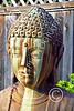 STY-BUDDHA 00053 A heavily stained beautiful Buddha statue, statue picture by Peter J Mancus