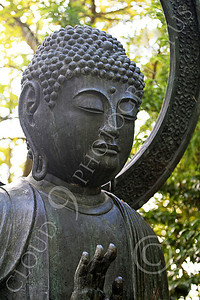 STY - BUDDHA 00007 A Buddha statue with a peaceful raised right hand, by Peter J Mancus