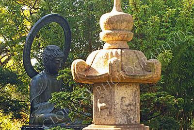 STY - BUDDHA 00020 A Buddha statue in a Japanese tea garden, by Peter J Mancus