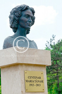 STY-CMT 00001 A well done bust honoring Romanian folk singer Centenar Maria Tanase, statue picture by Peter J Mancus