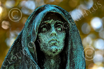 Sty-Cem 00012 A ghoulish cemetery statue, statue picture by Peter J Mancus