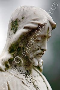 CemStat 00011 Cemetary statuary - Jesus Christ looks down, by Peter J Mancus