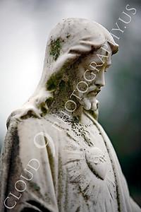 CemStat 00009 Cemetary statuary - Jesus Christ looks down, by Peter J Mancus
