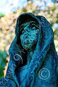 STY-Cem 00013 A spooky ghoulish cemetery statue, statue picture by Peter J Mancus
