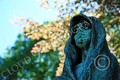 STY-Cem 00010 A spooky ghoulish cemetery statue, statue picture by Peter J Mancus