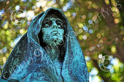 STY-Cem 00008 A spooky ghoulish cemetery statue, statue picture by Peter J Mancus