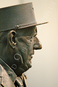 STY - de Gaulle 00007 A tight crop side profile of French general and statesman Charles de Gaulle, by Peter J Mancus
