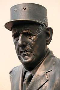STY - de Gaulle 00001 An excellent statuary portrait of French general and statesman Charles de Gaulle, by Peter J Mancus