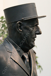 STY - de Gaulle 00003 A left side profile portrait of French general and statesman Charles de Gaulle, by Peter J Mancus
