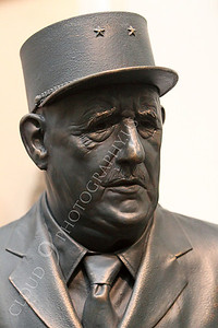STY - de Gaulle 00002 An excellent statuary portrait of French general and statesman Charles de Gaulle, by Peter J Mancus