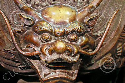 STY-CHIN 00008 Head of an interesting Chinese statue, statue picture by Peter J Mancus