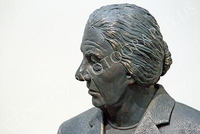 STY - Golda Meir 00002 A near side profile portrait of a statuary impression of Israel's Golda Meir, by Peter J Mancus