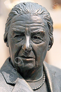 STY - Golda Meir 00005 A frontal portrait of a statuary impression of Israel's Golda Meir, by Peter J Mancus