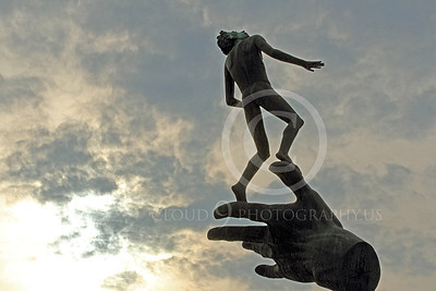 STY - HOG 00002 The Hand of God statue with a mottled sky for a background, by Peter J Mancus