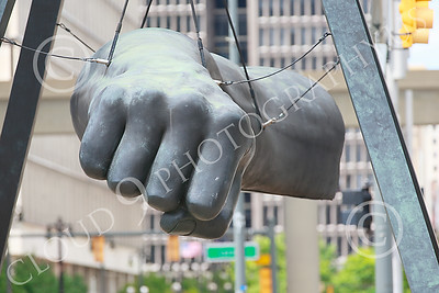 STY-JLBP 00004 A celebration of heavyweight boxing champion Joe Lewis' fist-Black Power, in Detroit, statue picture by Peter J Mancus
