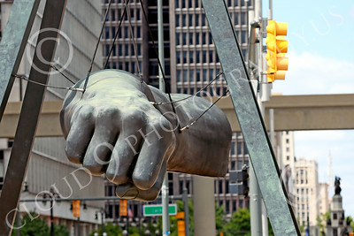 STY-JLBP 00003 A celebration of heavyweight boxing champion Joe Lewis' fist-Black Power, in Detroit, statue picture by Peter J Mancus