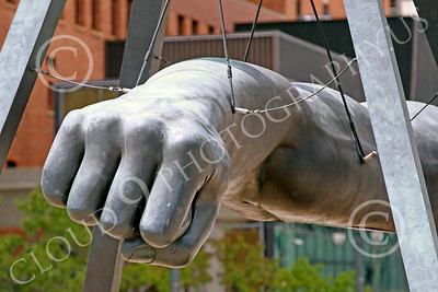 STY-JLBP 00002 Knuckles tot he chin--a celebration of heavyweight boxing champion Joe Lewis' fist-Black Power, in Detroit, statue picture by Peter J Mancus