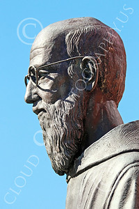 Sty-JesP 00008 A wonderful detailed statuary depiction of a scholarly Jesuit priest, statue picture by Peter J Mancus