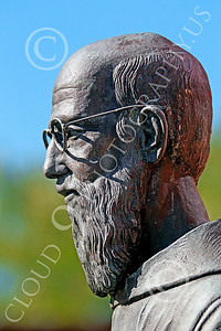 Sty-JesP 00007 A wonderful detailed statuary depiction of a scholarly Jesuit priest, statue picture by Peter J Mancus