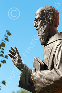 Sty-JesP 00009 A wonderful detailed statuary depiction of a scholarly Jesuit priest, statue picture by Peter J Mancus