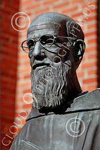 STY-JesP 00001 An extremely well done detail rich scholarly looking Jesuit priest, statue picture by Peter J Mancus